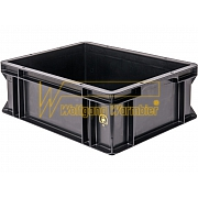 WEZ  BLACKLINE® Stackable tote boxes version: flat base