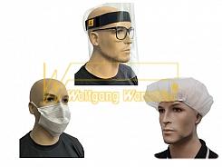 Gesichtsschutz/Kopfbedeckung/Überschuhe