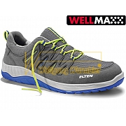 ELTEN MADDOX GREY-BLUE LOW WELLMAXX - S1P
