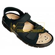 Electra - Damen-/HerrenTrekking Sandale - 2030, schwarz, Nubuk