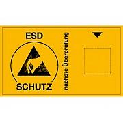 Aufkleber mit ESD-Symbol für Fälligkeitsmarke