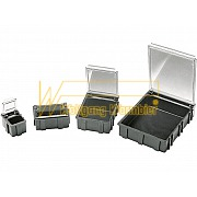 SMD Boxes - black with transparent metallized lid