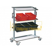 Storage Cart with 4 shelves, made of galvanized steel
