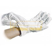 ESD-Gloves polyester - anti-slip grid side - 8745.0401
