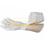 ESD-Gloves - nylon-polyester-mixture - with cuffs - anti slip coating on finger tips - 8745.APU