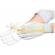 ESD-Gloves - nylon-polyester-mixture - with cuffs - anti slip coating interior - 8745.APU.K