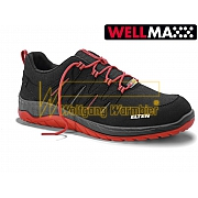 ELTEN MADDOX BLACK-RED LOW WELLMAXX - S3