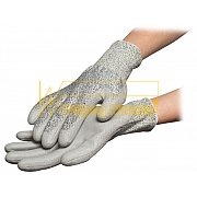 ESD-Gloves - nylon-polyester-mixture - with cuffs - anti-slip coating interior with cut protection - 8745.APU.CR
